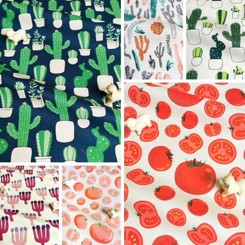 ❤ NEW IN ❤ September ❤ Cactus & Fruits Cotton Fabrics