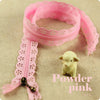 50cm - Scalloped lace edged zippers - 24 colours