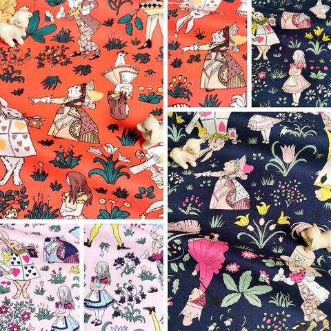 ❤ NEW IN ❤ September ❤ Alice in Wonderland Cotton Fabrics