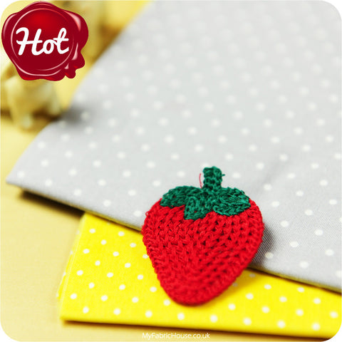 sew on applique - strawberry