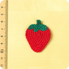 sew on applique - strawberry - dimension