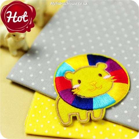 iron on applique - lion x 2
