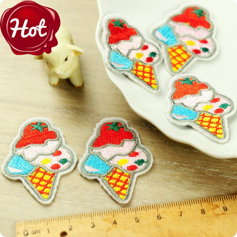 iron on applique - 2 x Ice cream