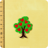 sew on applique - tree - dimension