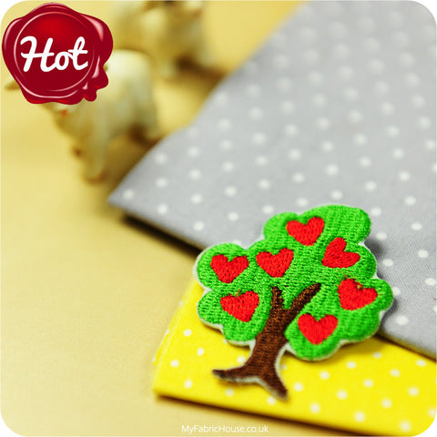 sew on applique - tree