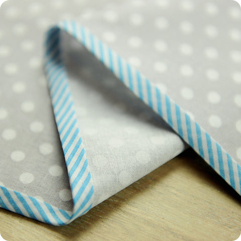 Stripe - 5m blue cotton bias binding unfolded tape