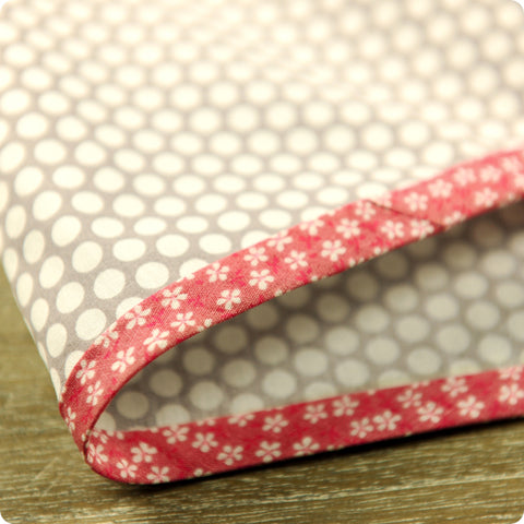 Ditsy - 5m pink flowers cotton bias binding unfolded tape