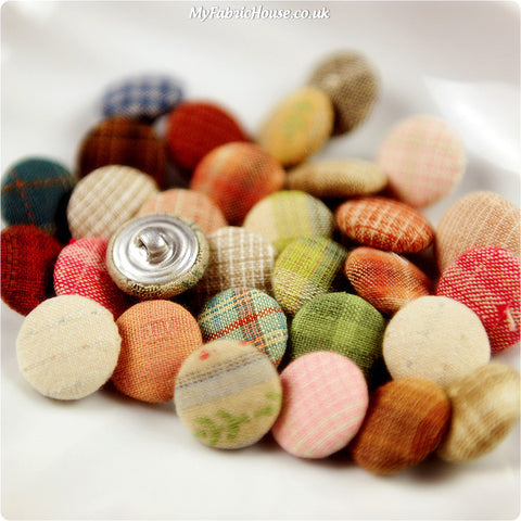 Handmade Fabric Covered Buttons - Lucky Dip £3.99 | My Fabric House