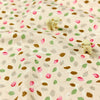 Leaf - beige cotton fabric W:100cm FQ1007-12