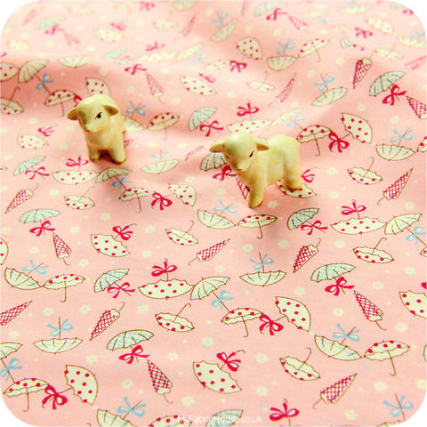 *BULK BUY* Pink umbrella cotton fabric FQ1201-16