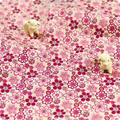 Buy Cotton Fabric - Purple Floral Fat Quarter FQ £2.99 | My Fabric House