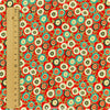 Ditsy - red & orange Japaneses chrysanths cotton fabric FQ1206-08