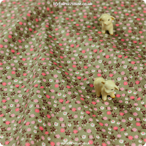 Buy Cotton Fabric - Green Ditsy Fat Quarter FQ £2.99 | My Fabric House
