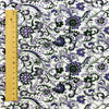 Flowers - purple floral cotton fabric FQ1206-56
