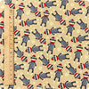 Christmas - beige sock monkeys cotton fabric FQ1207-21