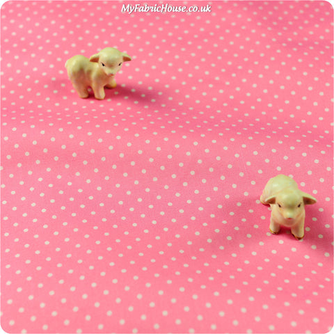 Buy Cotton Fabric - Pink Spotty Fat Quarter FQ £2.29 | My Fabric House