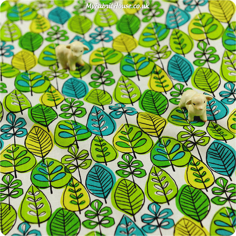 [Bundle Only] Leaf - green spring leaves cotton fabric W:150cm FQ1301-16