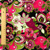 Bold floral - pink & lime floral cotton fabric FQ1302-18