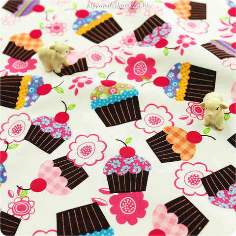 Buy cotton fabric - pink Food Fat Quarter FQ £3.25 | My Fabric House