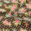 Buy linen fabric - brown Flowers Fat Quarter FQ £3.99 | My Fabric House