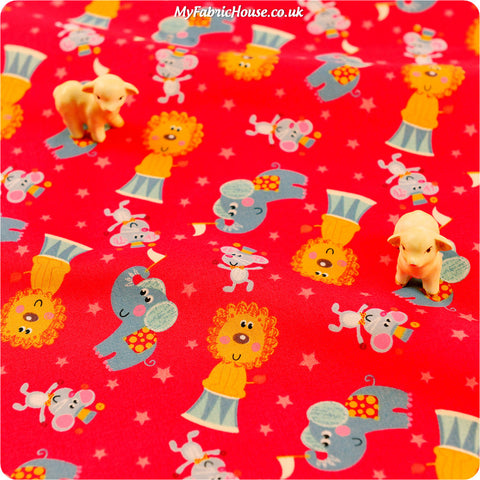 Buy cotton fabric - red Zoo Fat Quarter FQ £2.6 | My Fabric House