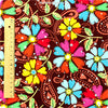 [SALE] Flowers - multicoloured sequined floral cotton fabric W:96cm FQ1308-05