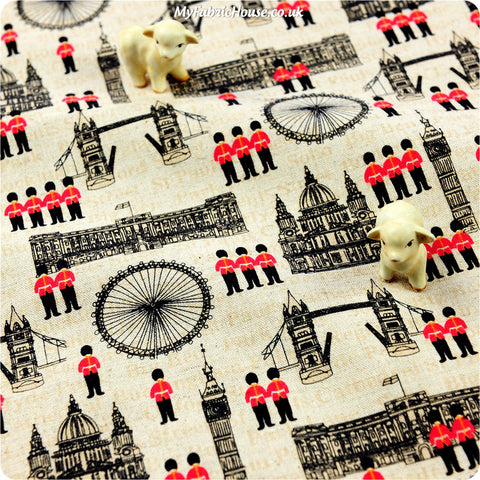 Buy linen fabric - beige Britannia Fat Quarter FQ £4.25 | My Fabric House