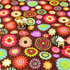 Buy cotton fabric - brown Flowers Fat Quarter FQ £3.25 | My Fabric House