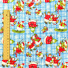 Christmas - blue & red snowman cotton fabric FQ1310-08
