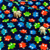 Buy cotton fabric - multicolour Owls Fat Quarter FQ £3.35 | My Fabric House