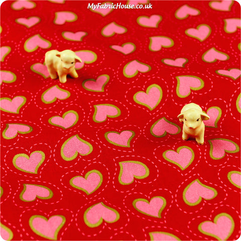 Buy cotton fabric - red Christmas Fat Quarter FQ £3.25 | My Fabric House