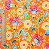 [SALE] Flowers - orange floral cotton fabric W:110cm FQ1312-14