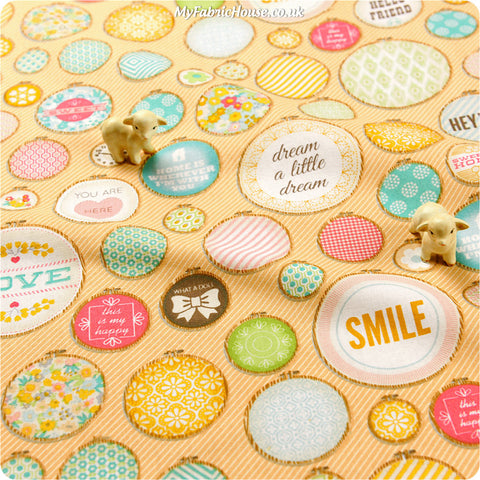 Buy cotton fabric - beige Seamstress Fat Quarter FQ £3.49 | My Fabric House