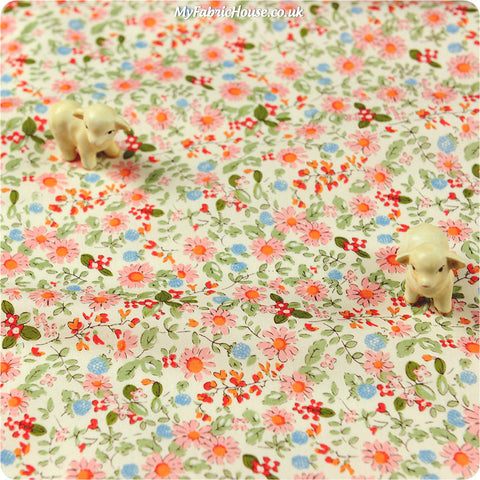 Buy cotton fabric - pink Ditsy Fat Quarter FQ £2.99 | My Fabric House
