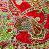 Bold floral - red & green cotton fabric FQ1402-37