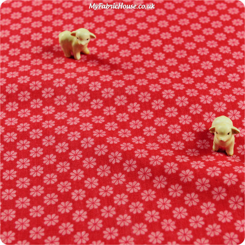 Buy linen fabric - pink Flowers Fat Quarter FQ £3.99 | My Fabric House
