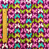 Butterfly - purple multicolour butterfly motifs cotton fabric FQ1405-11