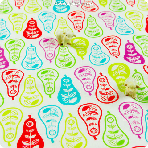 Buy cotton fabric - multicolour Fruits Fat Quarter FQ £2.99 | My Fabric House