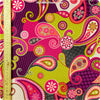 Paisley - pink purple & lime giant paisley cotton fabric FQ1406-32