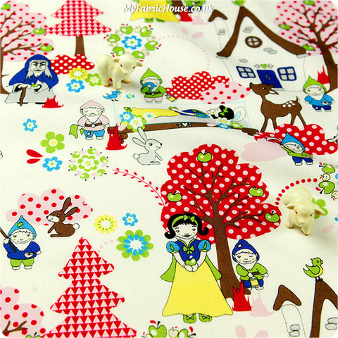 Buy cotton fabric - multicolour Fairy & Princess Fat Quarter FQ £3.49 | My Fabric House