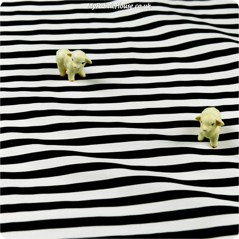 Buy cotton fabric - black Monochrome Fat Quarter FQ £2.99 | My Fabric House