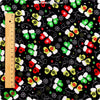 Christmas - black multicolour Xmas mittens cotton fabric FQ1410-03
