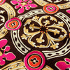 [SALE] Retro - brown & pink celtic tiles cotton fabric W:100cm FQ1410-21