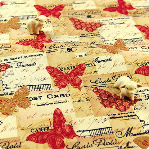My Fabric House | Buy Cotton Fabric Meter Butterfly Fat Quarter £3.25