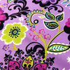 Bold floral - purple multicoloured giant blooms cotton fabric W:108cm FQ1411-04