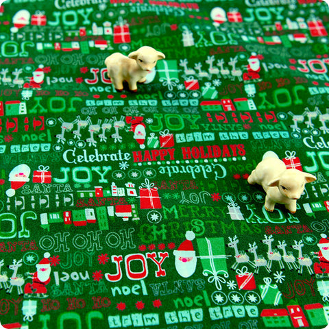 My Fabric House | Buy Cotton Fabric Meter Christmas Fat Quarter £2.99