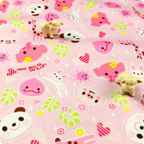 My Fabric House | Buy Cotton Fabric Meter Zoo Fat Quarter £2.99