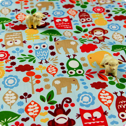 My Fabric House | Buy Cotton Fabric Meter Zoo Fat Quarter £3.25