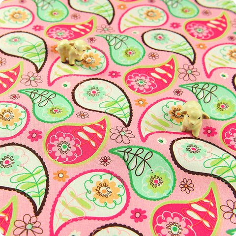 My Fabric House | Buy Cotton Fabric Meter Paisley Fat Quarter £3.25