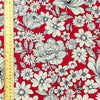 Bold floral - red scarlet & white flowers cotton fabric W:110cm FQ1501-33